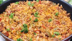 Ground Beef Stuffed Pepper Skillet Beef Recipes, Cooking Recipes, Fire Roasted Tomatoes, Beef Broth, Italian Seasoning, Smoked Paprika, Serving Size, Fried Rice, Skillet