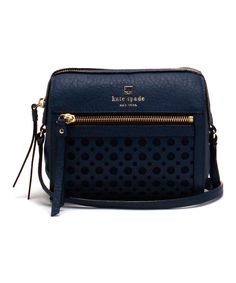 Kate Spade French Navy Looloo Perri Lane Bubbles Crossbody Bag