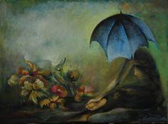 florist... oil on canvas. 47x64 cm.