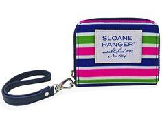 Sloane Ranger Sloanie Stripe ID Wristlet