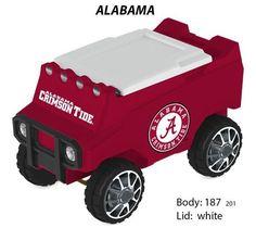 Alabama Crimson Tide  Bluetooth Remote Control 30 Qt Cooler Holds 30 Cans + Ice  #AlabamaCrimsonTide