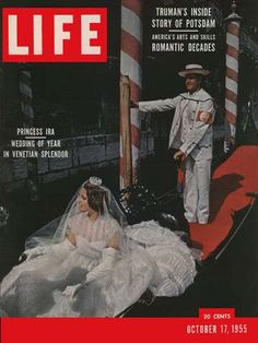 Life Magazine, James Whitmore, Life Cover, Wedding Of The Year, Venetian, Photoshop, Romantic, October, Fictional Characters