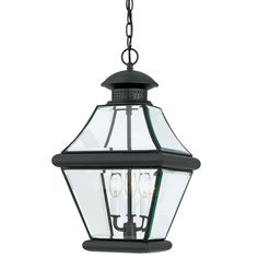 Shop Quoizel Rutledge Mystic Black Transitional Clear Glass Lantern Pendant at Lowe's Canada online store. Find Pendant Lighting at lowest price guarantee. Outdoor Hanging Lanterns, Outdoor Lighting, Outdoor Lantern, Outdoor Chandelier, Porch Lighting, Lighting Ideas, Chandeliers, Multi Luminaire, Lantern Pendant Lighting