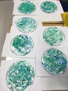 Earth Day - paint and shaving cream