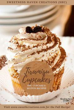 TIRAMISU CUPCAKE Recipe. Visit www.sweethcreations.com for the BEST HOMEMADE CUPCAKE & MUFFIN recipes now! #sweetnesshavencreations #cupcakes #muffins #cake #beautifulcakes #cakerecipes #homemadecakes #cupcakerecipes #muffinrecipes #homemadedessert #homemade #homemaderecipes #dessert #dessertrecipes #recipes #kualalumpurbaker