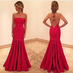 Red Prom Gown,Lace Prom Gowns,Elegant Evening Dress,Modest Evening Gowns