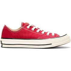 f066cfddd9138 Converse Premium Chuck Taylor Burgundy Red Chuck Taylor All Star 70  Sneakers featuring polyvore