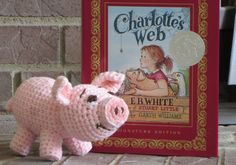 Pig PDF Pattern for crocheted pig inspired by BackFenceTreasures, $3.50