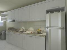 Granito Branco Dallas: Preço, Mancha? Veja Fotos! Siena, Granito Dallas, Kitchen Cabinets, Home Decor, Black Banister, White Granite, Light Shades, Cob House Kitchen, Types Of Granite