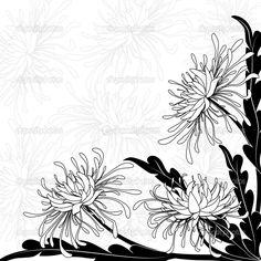 Хризантема — Стоковая иллюстрация #7498533