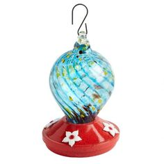 One of my favorite discoveries at ChristmasTreeShops.com: Art Glass and Flowers Hanging Hummingbird Feeder