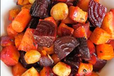Oven Roasted Root Vegetables ~ one of my favorite go-to side dishes