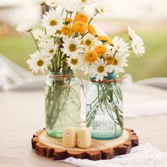 Wedding Flowers: 50 Creative Centrepieces Country Style Wooden Coasters – The Knot