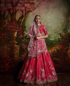 Pink Color Bridal Lehenga Choli from Sabyasachi Collection – Panache Haute Couture Lehenga Choli Designs, Lehenga Choli Online, Red Lehenga, Indian Bridal Lehenga, Anarkali, Sabyasachi Lehengas, Pink Saree, Heavy Lehenga, Sabyasachi Bride