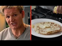 Forget everything you ever knew about pancakes, grab a bag of potato chips, and let Gordon Ramsay show you how it's really done… Gordon Ramsay Shows, Chef Gordon Ramsey, Tuesday Recipe, Gluten Free Pancakes, Potato Chips, Cooking, Recipes, Funny Stuff, It's Funny