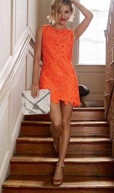 Orange dress : so #chic for #summer