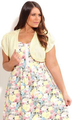 City Chic CUTE BOLERO JACKET-Plus Size Women's Fashion