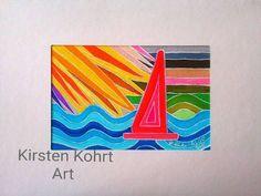 Mischtechniken - SCHIFF AHOI-KIRSTEN KOHRT -ART - ein Designerstück von KIRSTEN-KOHRT-ART bei DaWanda