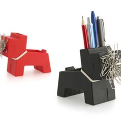 Keep your desk organized with this whimsical little dog accessory. Loyal Rocky can hold up to five pens, plus small stationery items in his back and paper clips on his magnetic mouth. Office Furniture Stores, Furniture Deals, Cute Office Supplies, Interior Design Process, Stationery Items, Office Accessories, Fun At Work, Desk Organization, Gift Store