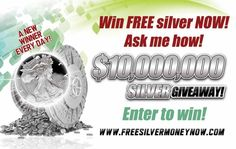 It's True! New Winner everyday! Free Silver, Enter To Win, Coins, Cool Stuff, Day, Cool Things, Coining, Rooms