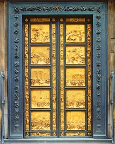 Lorenzo Ghibertiu0027s bronze doors for the Florence Baptistry took 21 years to complete and Michelangelo & The Gates of Paradise | Pinterest | Michelangelo Florence and Gate