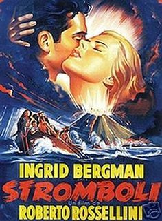 """In 1949, Ingrid wrote a fan letter to Italian director Roberto Rossellini, expressing her desire to work in one of his films. He responded by writing a part for her in his 1949 film """"Stromboli."""" During the production of this film, Ingrid and Rossellini began an affair that would change her previous wholesome image forever and cause her to lose many fans in America."""