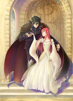 Another way of saying Hataraku Maou-sama; Beauty and the Beast but WAY better. Manga Love, Anime Love, Devil Part Timer, Hataraku Maou Sama, Manga Couple, Cute Anime Couples, Anime Ships, Satan, Anime Manga
