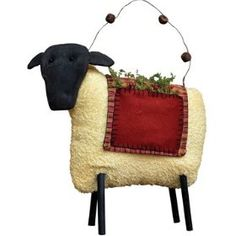 Primitive Pocket Sheep Country Rustic $23.99