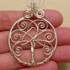 Tree of Life Pendant Necklace With Celtic by AnnaWireJewelry, $29.99