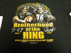 NFL STEELERS BROTHER HOOD OF THE RING BLACK TSHIRT. FREE SHIPPING FREE PHOTONS