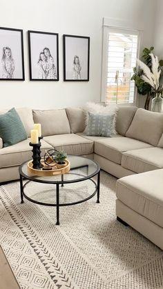 Decor Home Living Room, Living Room Colors, Living Room Modern, Living Room Sofa, Interior Design Living Room, Small Living Rooms, Living Room Seating, Budget Living Rooms, Boho Living Room