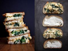 15 Grown-up Grilled Cheese Sandwiches: Spinach and Artichoke Grilled Cheese Sandwich