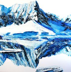 Chill Factor oil over acrylic on canvas stretcher (v x h x d): 1528 x 1528 x 25 mm Artist Painting, Chill, Mountains, My Favorite Things, Canvas, Drawings, Artworks, Art Ideas, Travel