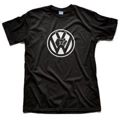 VW Volkswagen Peace Logo T Shirt Golf GT GTI Jetta Passat EOS 2 Free Decals | eBay