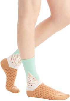Shop ModCloth for our assortment of the women's tights, printed, opaque and polka dot! Get OFF when you buy 2 pairs of tights at ModCloth! Silly Socks, Funky Socks, Leggings, Tights, Cozy Socks, Vintage Style Outfits, Sock Shoes, Modcloth, Outfits