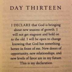 Day 13 | I Declare Growth | Joel Osteen