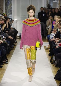 Moschino Cheap and Chic F/W 2012/13 - knitted sweater with crochet collar