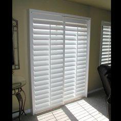Modernize your sliding glass door with sliding plantation shutters   Window  Treatment - Shutters   Pinterest   Plantation shutter,
