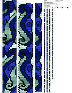 15 b. Bead Crochet Patterns, Bead Crochet Rope, Seed Bead Patterns, Peyote Patterns, Loom Patterns, Beading Patterns, Bead Jewellery, Seed Bead Jewelry, Tapestry Crochet