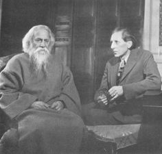 Rabindranath Tagore with Ananda K. Coomaraswamy, about 1930