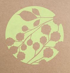 Blackberry. Hand screen printed card £2.50. by Alison Bick