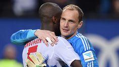 """Da bin ich mal guter Dinge gegen Gladbach ;) Djoruou im Teamtraining - Drobny bereit - alle positiv, """"jou, meen jong, denn man tau"""" ... nur der HSV !!"""