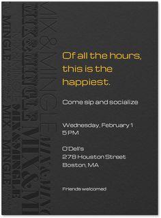 Happy hour invite wording samples invitation templates happy design your invitation stopboris Images