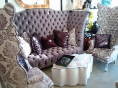 Plum Velvet Sofa | The color purple has been the choice of Royals and color connoisseurs ...