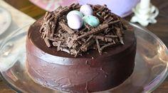 wonderful chocolate nest! italian recipe to make an easter nest