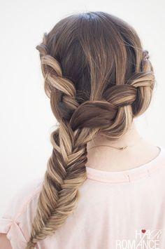 #Hair Romance - Dutch #fishtail combo side #braid tutorial