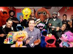 "Jimmy Fallon, Sesame Street & The Roots Sing ""Sesame Street"" Theme (w/ C..."