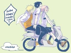 Team 7 riding motorcycle!!❤️