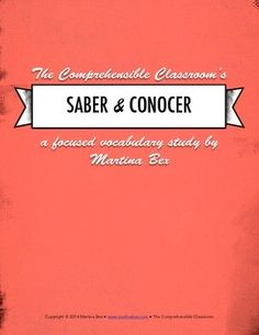 Grammar notes: Saber vs. conocer with reading and stations