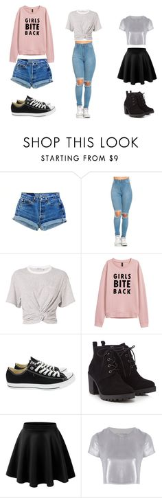 """""""Cute jean moments"""" by awkwardnath on Polyvore featuring moda, T By Alexander Wang, Converse, Red Herring y Related"""